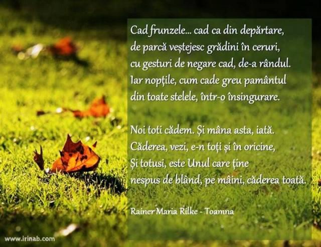 Rainer Maria  Rilke- Toamna